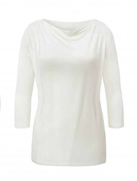 4 BRIGITTE Waterfall Shirt 3/4 Sleeves - pearl-white