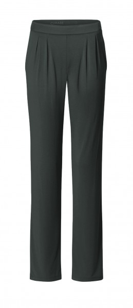 Flow #9124 Wide Pants - tafelgrau