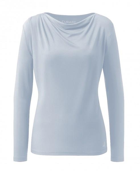 Flow #2275 Shirt waterfall 1/1 sleeves - light-blue