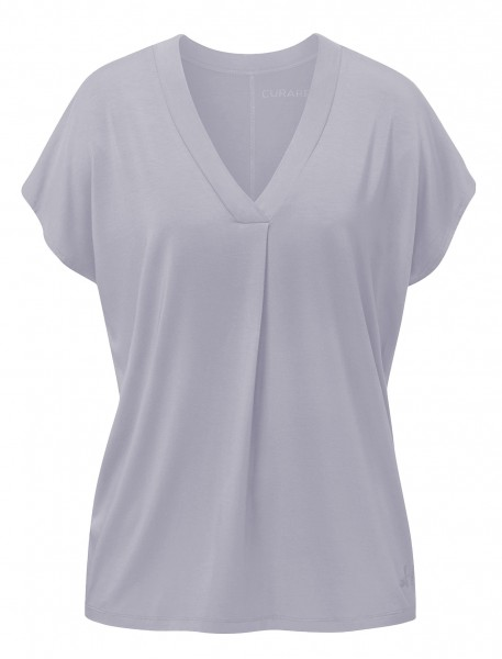 Flow #2114 shirt v-neck boxpleat - new-pearl