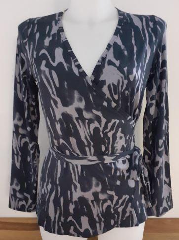 Flow #2121 Wrapjacket belt - marbled print