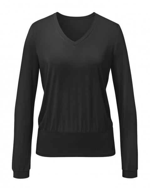 Flow #9123 Shirt V-Neck - black