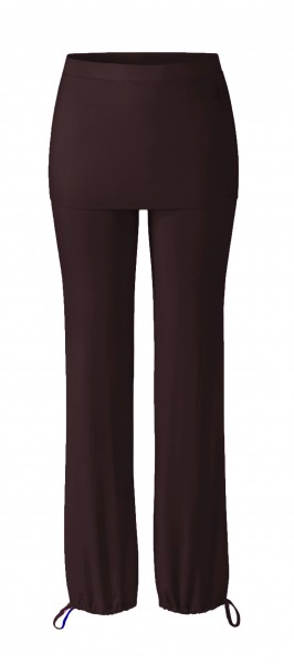 Flow #9247 Long Pants Skirt - bordeaux