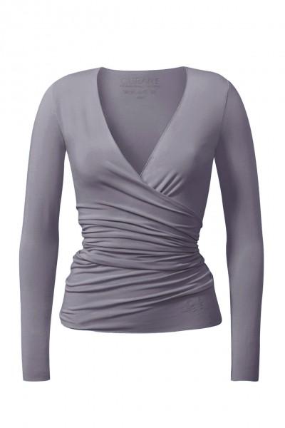 Flow #24 Wrap Jacket - pearl grey