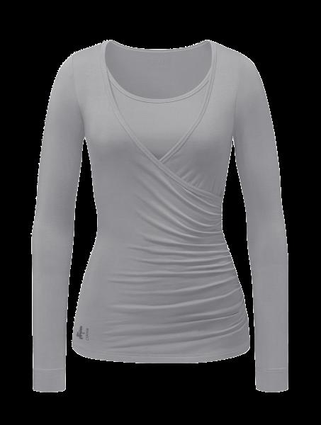 Flow #37 Wrap Shirt - silver shadow