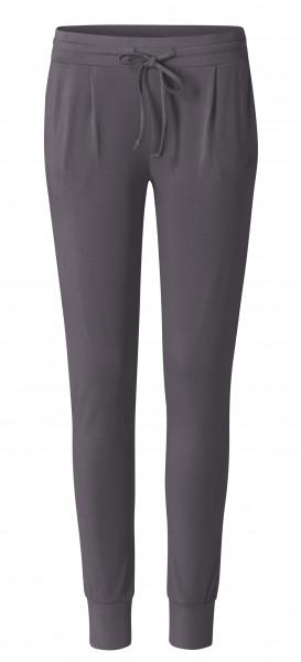 Flow #2125 long Pants boyfriend - grau aubergine