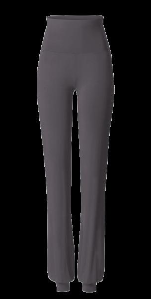 Flow #8190 Long Pants, roll down - grau aubergine