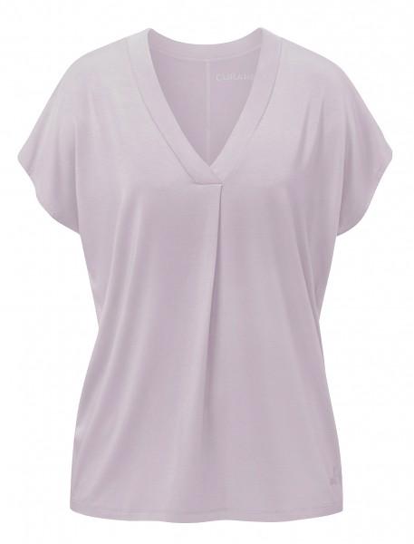 Flow #2114 shirt v-neck boxpleat - puder-rosa