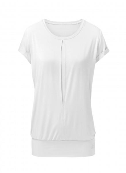 Flow #226 Shirt mit Kellerfalte - white